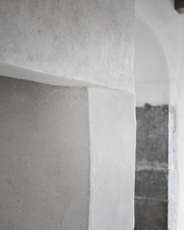 Rénovation cheminée enduit chaux Lot Aveyron