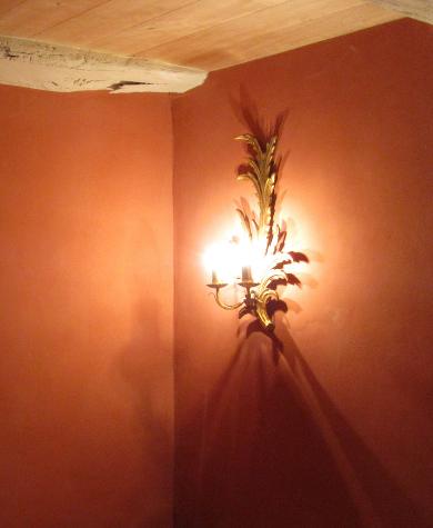 Enduit décoratif chambre, Château de Larnagol