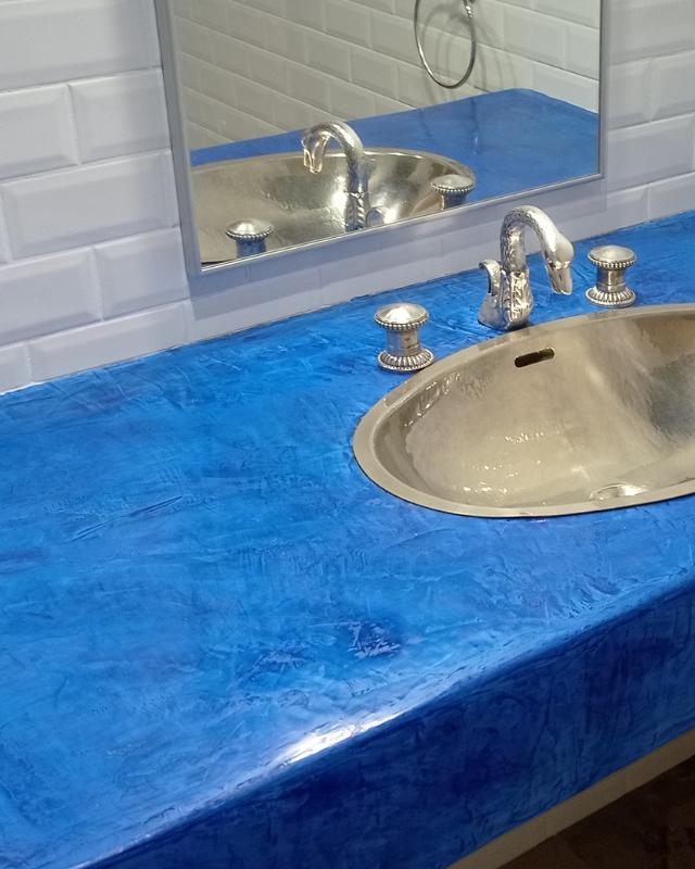 Plan vasque salle de bain stucco Lot Aveyron