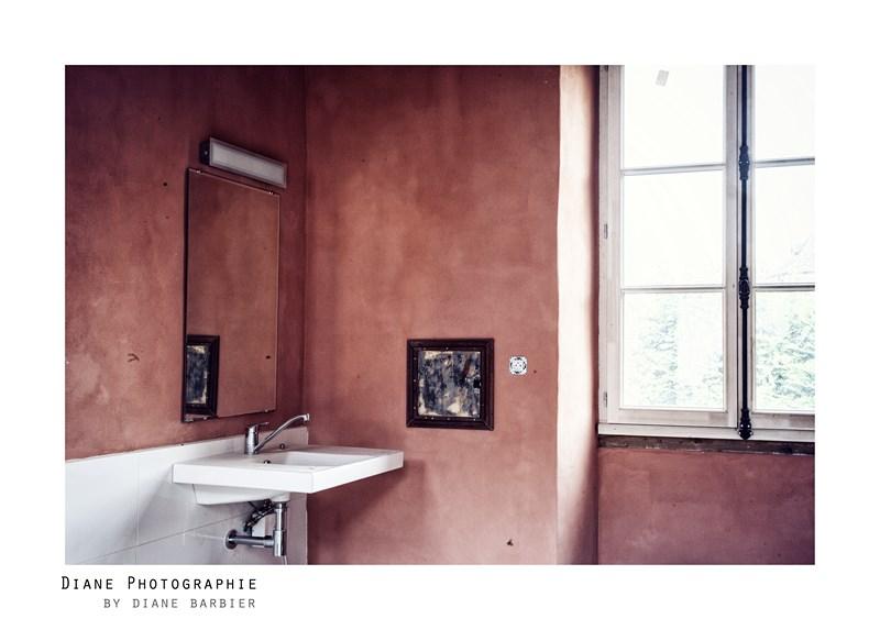 Rénovation enduits salle de bain, Château de Larnagol