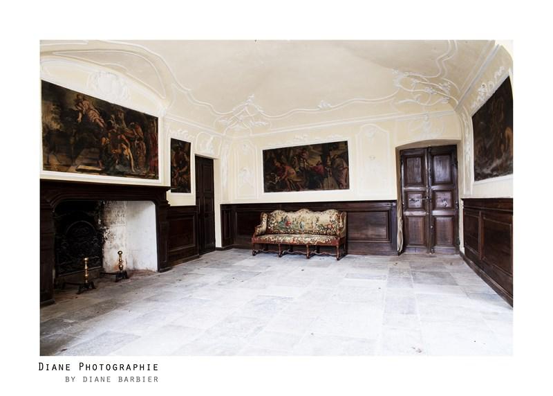 Rénovation couleur salon, Château de Larnagol
